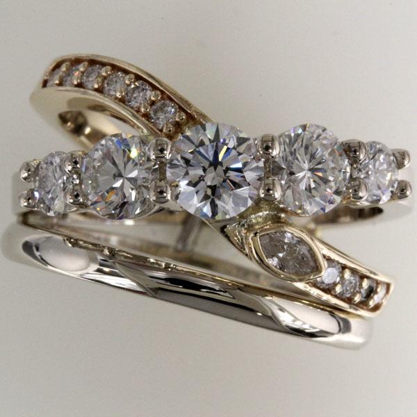 Custom ring heirloom diamonds 1