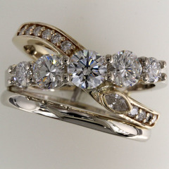 Custom ring heirloom diamonds 1