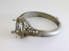 Filigree sapphire engagement ring 1