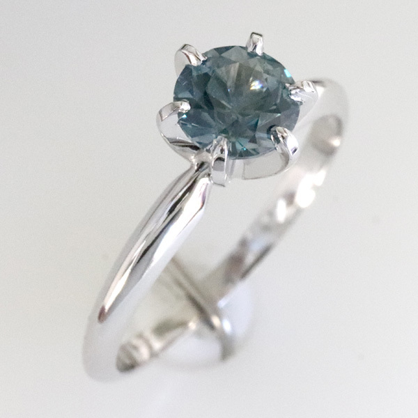 Solitaire blue green sapphire montana engagement ring 4