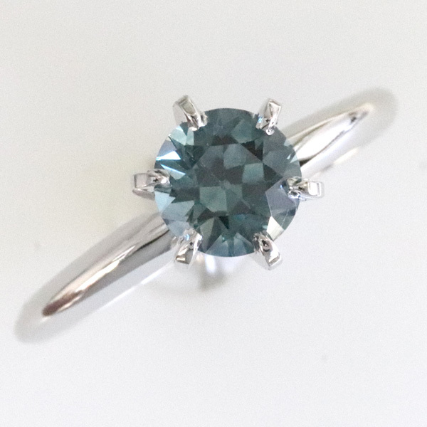 Solitaire blue green sapphire montana engagement ring 3