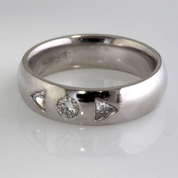 Mens 3 diamond wedding band 1