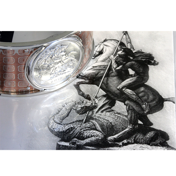 Mens dragon coin cuff bracelet 2