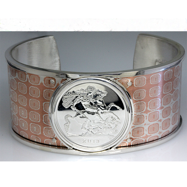 Mens dragon coin cuff bracelet 5