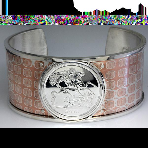 Mens dragon coin cuff bracelet 5