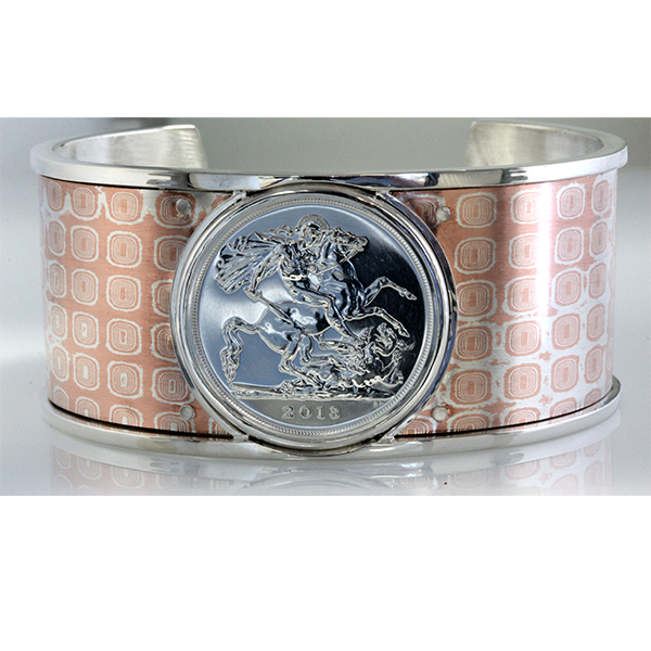 Mens dragon coin cuff bracelet 4