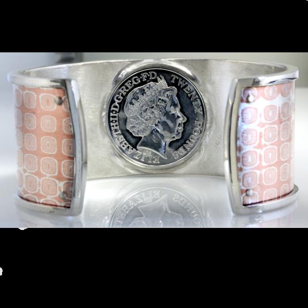 Mens dragon coin cuff bracelet 1