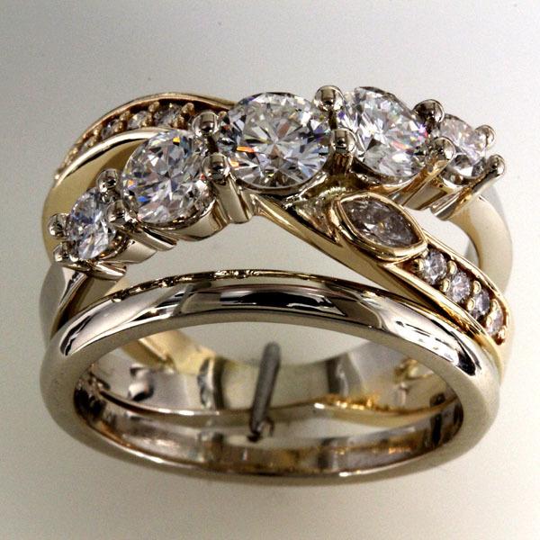 Custom ring heirloom diamonds 5