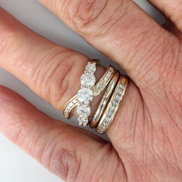 Custom ring heirloom diamonds 6