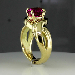 Pink sapphire ring %284%29