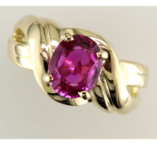 Pink sapphire ring %285%29