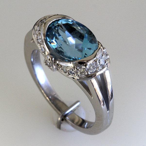 Oval aqua ring 3