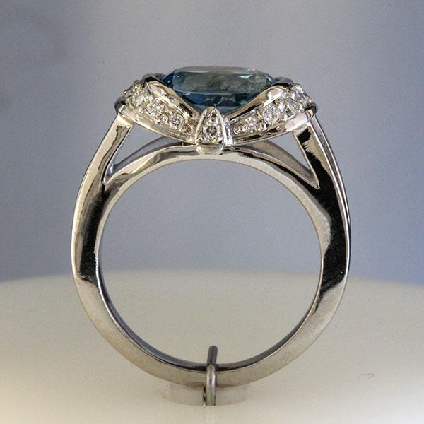 Oval aqua ring 4