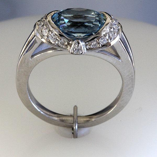 Oval aqua ring 5