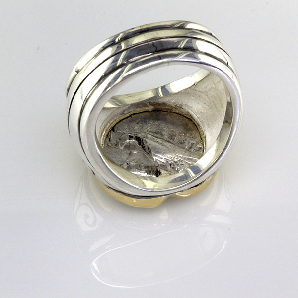 Greek coin ring silver 4
