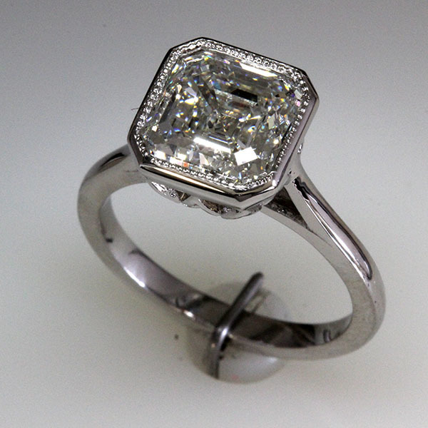 Asscher cut engagement ring 1