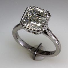 Asscher cut engagement ring 1