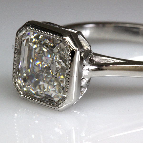 Asscher cut engagement ring 3