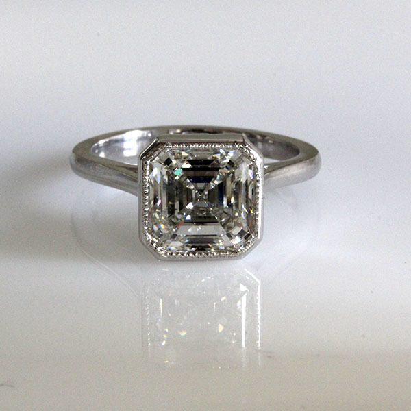 Asscher cut engagement ring 4